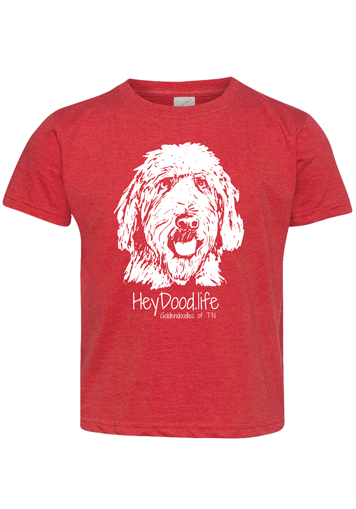 The Original - HeyDood.Life - White on Red