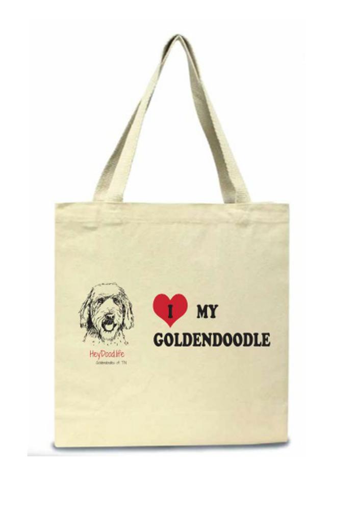 I Love My Goldendoodle Tote Bag
